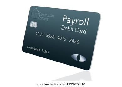 Here is a payroll debit card. It is a pre-paid debit card used to pay employees their payroll wages. It is and illustration.