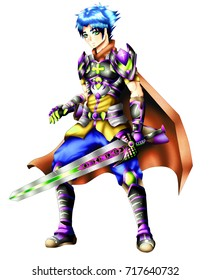 Hero swordsman Jack Hawk in alternative colors.