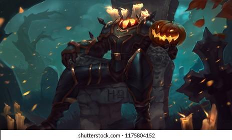 heroes of newerth transmut halloween background