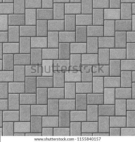 Herringbone Pattern Paving Seamless Texture Stock