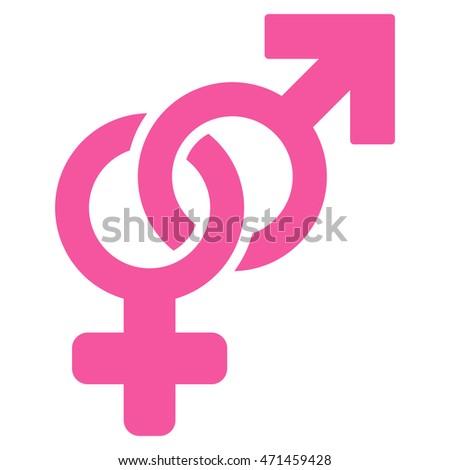 Heterosexual symbol text