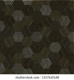 hexa whith square pattern design, wall and Floor graphics