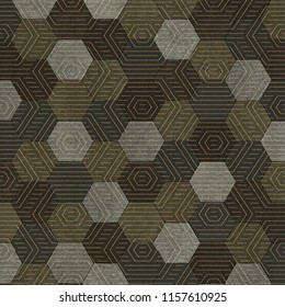 hexa whith square pattern design, wall tails graphics