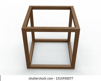 Hexaedron Eippedon Cenon, Leonardo da Vinci, illustration . 3D model