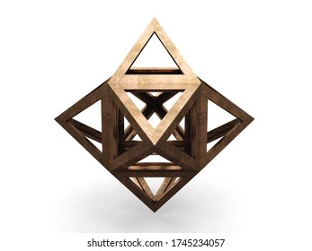 Hexaedron, Leonardo da Vinci; 3D model