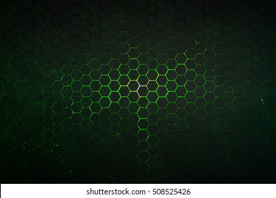 hexagon background with real texture. 3d illustration.