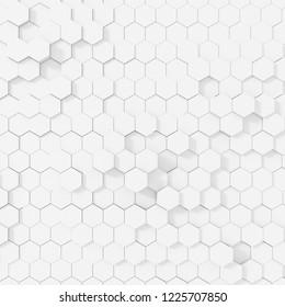 Hexagon color white background.