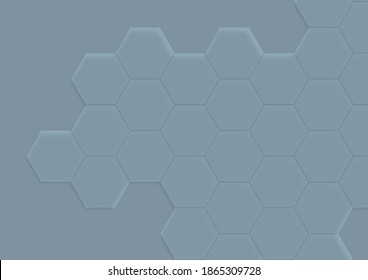 Hexagon illustration background light ble