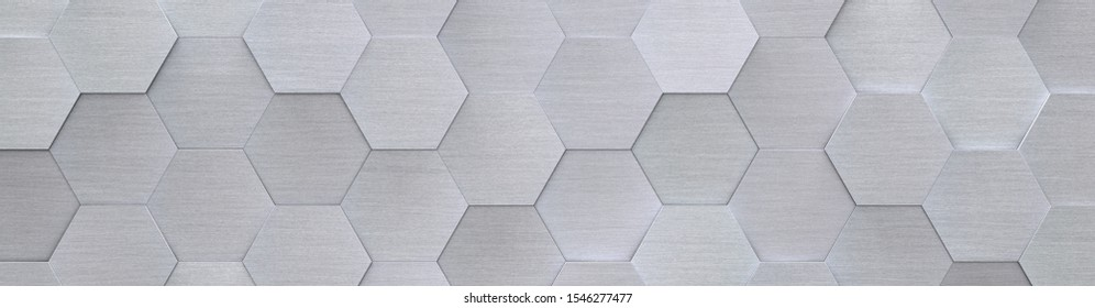 Hexagon Metal Background (Website Head) (3D Illustration)