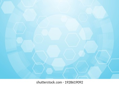 Hexagonal abstract background. Big Data Visualization. Global network connection. Medical, technology, science background.  illustration