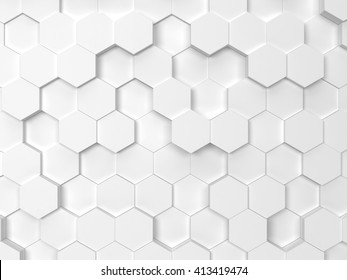 Hexagonal background. 3d background