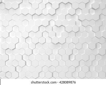 Fundo hexagonal. Fundo 3d
