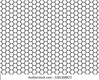 Hexagonal cell texture. Honey hexagon cells, honeyed comb grid grill texture and geometric hive honeycombs, mosaic or speaker fabric shape seamless pattern abstract  illustration