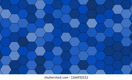 Hexagonal grid pattern with random shades - version 100-A. Color used as matrix: Absolute Zero.
