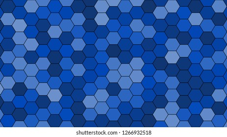 Hexagonal grid pattern with random shades - version 100-C. Color used as matrix: Absolute Zero.