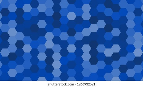 Hexagonal grid pattern with random shades - version 100-D. Color used as matrix: Absolute Zero.