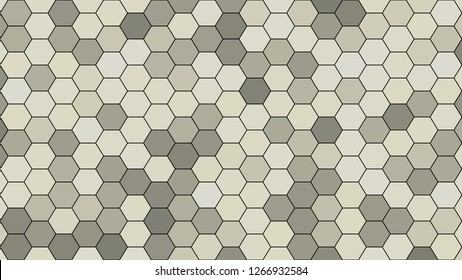 Hexagonal grid pattern with random shades - version 93-C. Color used as matrix: Loafer.