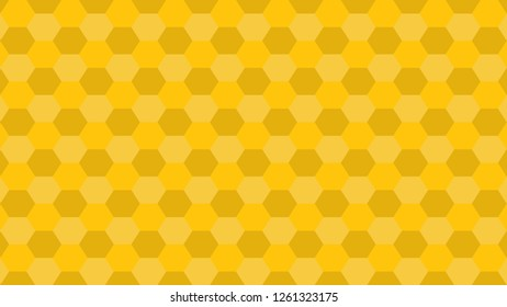 Hexagonal grid pattern with shades - version 2. Shades of: Mikado yellow (Approximate basic color: Yellow).