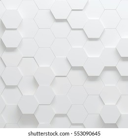 Hexagonal parametric pattern, 3d illustration