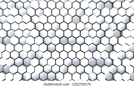 Hexagonal pattern background, 3dcg