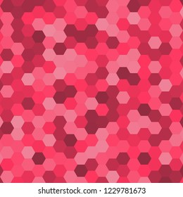 Hexagonal pattern / grid. Color: Radical Red.