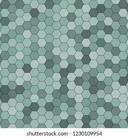 Hexagonal pattern / grid. Color: Sea Nymph.