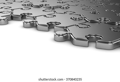The hexagonal puzzle on a white background. The background for the text.