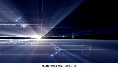 hi tech background abstraction from schematic drawing