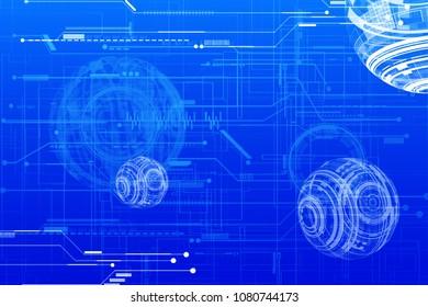 Hi tech technology digital world.Futuristic concept