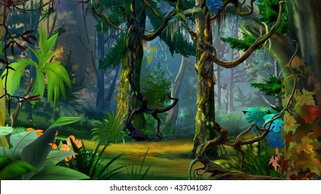 Cartoon Forest Images Stock Photos Amp Vectors Shutterstock
