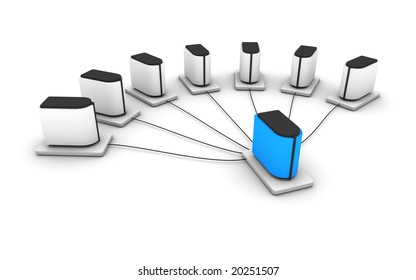 a hierarchical computer network