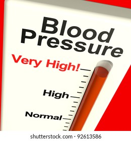 High Blood Pressure Showing Hypertension And Lots Of Stress During A Health Checkup To Gauge Heart Health. A Healthcare Examination.