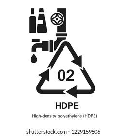High density polyethylene icon. Simple illustration of high density polyethylene icon for web design isolated on white background