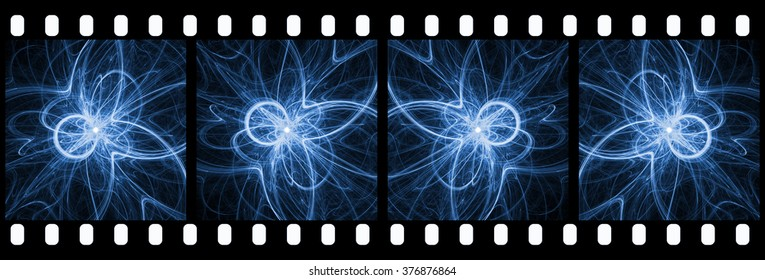 High Energy Particles Collision - Abstract Background Suitable for Custom Content