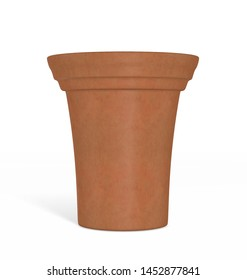 High Flower Pot isolated on a Background  3D Illustration