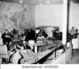 High life on the Hindenburg Passengers aboard the Hindenburg at ease in the salon as the dirigible flew over the mid-Atlantic en route to Lakehurst.