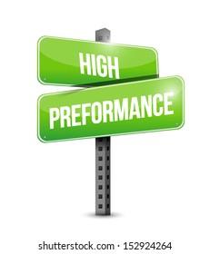 high performance road sign illustration design over a white background