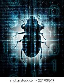 high quality digital bug  illustration