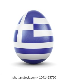 High quality realistic rendering of an glossy egg with the flag of Greece.(series)