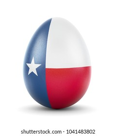 High quality realistic rendering of an glossy egg with the flag of Texas.(series)