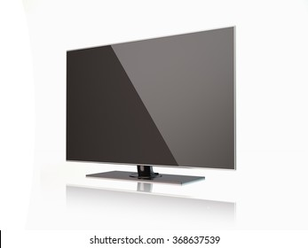 High quality render of a flatscreen LED TV , LCD full hd or 4K smart  television.  It is isolated on white background. Clipping path is included.