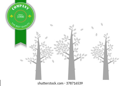 High quality stamp with trees