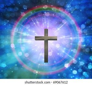 High Resolution 3D Illustration Light of Christ
