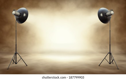 high resolution 3D rendering of a studio background
