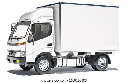 High Resolution Box Truck 3d rendering