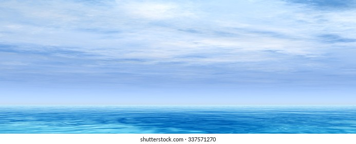High resolution conceptual sea or ocean water waves and sky cloudscape exotic or paradise background banner metaphor to nature, peace, summer, travel, tropical, tourism, environment, vacation holiday