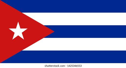 high resolution Cuban national flag of Cuba, America