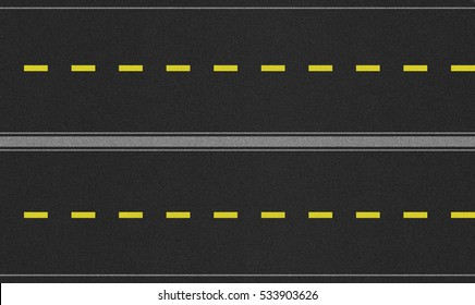 High resolution four lane road texture map