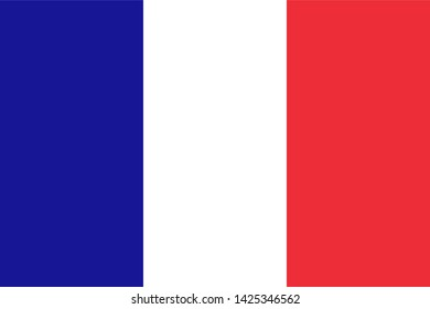 high resolution French national flag of France, Europe