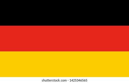 high resolution German national flag of Germany, Europe